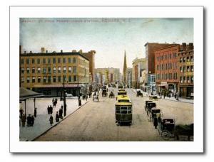 Market St., Newark NJ 1909 Vintage REPRO Postcard