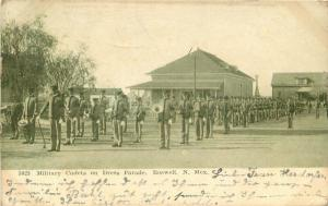 Dress Parade Roswell New Mexico 1907 Military Cadets Postcard Ingersall 1148