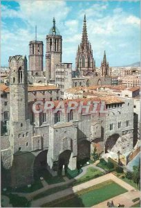 Postcard Modern Barcelona Roman Square