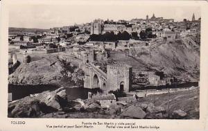 RP, Partial View & Saint Martin Bridge, Toledo, Spain, 1920-1940s