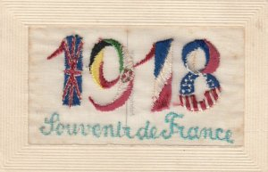 WAR 1914-18 ; 1918 ; Flags of Allies ; Embroidered