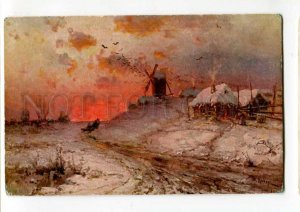 288845 RUSSIA KLEVER Winter evening Vintage Ostrowski #1338 PC