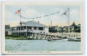 Yacht Club North Weymouth Massachusetts 1920c postcard