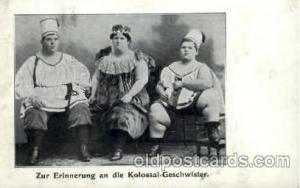 Kolossal- Geschwister, Heaviest Person Postcard Post Card Unused