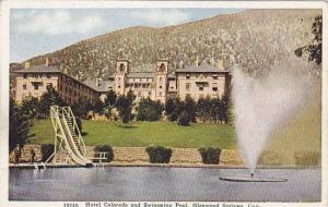 Hotel Colorado and swimming pool, Glenwood Springs, Colorado, 00-10s