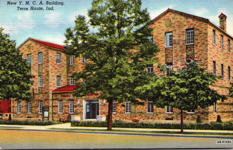 Indiana Terre Haute New Y M C A Building 1948 Curteich