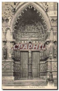 Old Postcard Amiens cathedral Porch of the Virgin Mother
