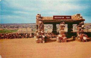 Painted Canyon North Dakota~Observation Point~Rock Shelter House~1954 Postcard