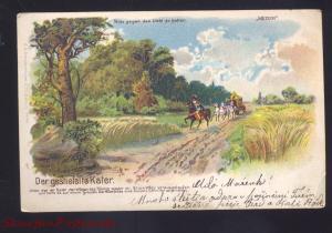 1900 DER GESTIEFELTE KATER GERMANY ANTIQUE VINTAGE POSTCARD GERMAN STAMP