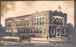 Independence Iowa~Brand New City Hall RPPC c1910 Postcard