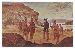Mckees Rocks PA Arrival of George Washington Historic Painting Vintage Postcard