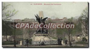 Postcard Old St Etienne Monument Affairs