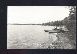RPPC PINE RIVER MINNESOTA NORWAY LAKE VANDALIA BEACH REAL PHOTO POSTCARD