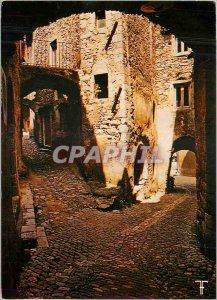 Postcard Modern Ardeche Saint Montan game of shadow and light