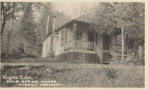 RP: AVERILL , Vermont, 1920s ; Cold Springs Camp , Virginia Cabin