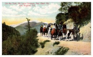 4639 CA Los Angeles  Horseback riding on Trail,  Mt.Lowe Division, Pac.Elect.Ry.