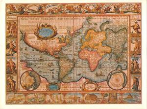 BR77212 world map cartes geographiques