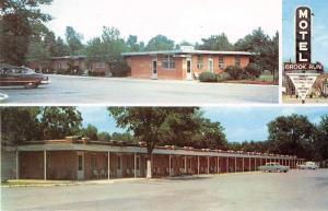 Richmond Virginia exterior views Brook Run Lodge Motel vintage pc Y15678