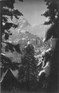 Kufstein Anton karg Castle Winter Mountain Panorama Postcard