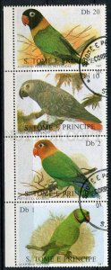 265182 Sao Tome & Principe 1987 year used stamps parrots
