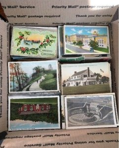 HUGE 1500 + Vintage POSTCARD Lot - Early c1900's to 1970's STANDARD SIZE 3.5X5.5