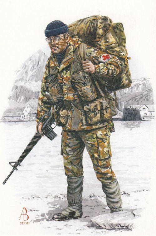 Corporal Royal Army Medical Corps South Georgia Uniform Postcard