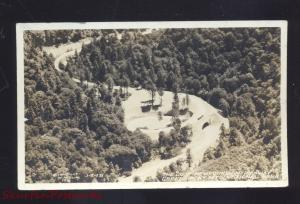 RPPC GREAT SMOKY MOUNTAIN PARK TENNESSEE HIGHWAY LOOP REAL PHOTO POSTCARD