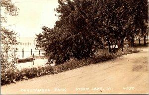 Real Photo Postcard Chautauqua Park in Storm Lake, Iowa~132103