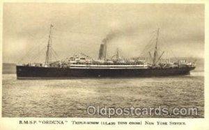 R.M.S.P. Orduna Royal Mail, New York Service Ship Unused