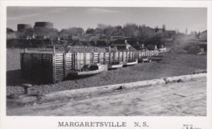 Canada Margaretsville Fishing Boats Real Photo