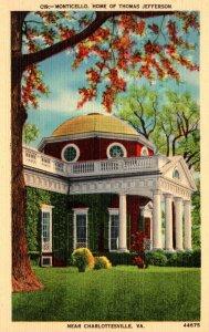 Virginia Monticello Home Of Thomas Jefferson