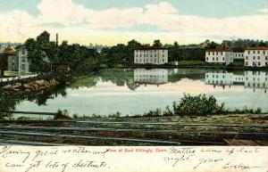 CT - East Killingly. View from Railroad Tracks  (crease in card)