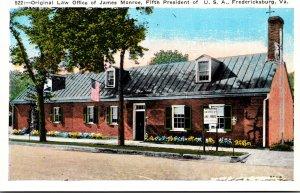 Virginia Fredericksburg Original Law Office Of James Monroe