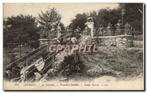 Old Postcard Lourdes Calvary Premiere Station Escala Sancta