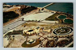 Miami FL- Florida, Aerial SeaQuarium, Sea Wonders of the World, Chrome Postcard