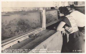 RP: HOMOSASSA SPRINGS , Florida , 1930-40s ; Walk Under Water