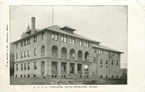 Spokane Amateur Athletic Club~Dormers~Arch Colonnade~c1908 B&W