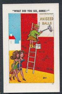 Comic Postcard - Risque / Rude / Scotsman / Kilt / Aniseed Balls / Poster Ref.S7