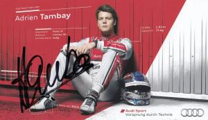Adrien Tambay Audi F1  Car Sport Official Undedicated Hand Signed Photo