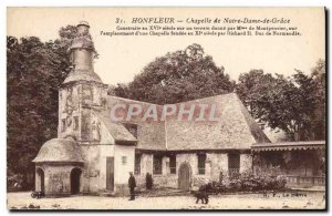 Postcard Honfleur Old Chapel of Our Lady of Grace