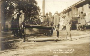 Fort Oglethorpe Camp Greenleaf Litter Drill MOTC WWI Real Photo Postcard