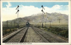 Humboldt Mountains RR Train Near Imlay NV c1920 Postcard