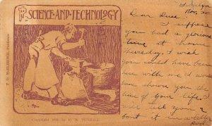 Science and Technology Cartoon Occupation, Blacksmith 1907