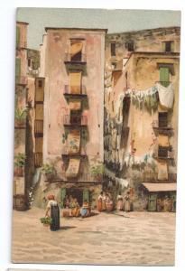 Italy Naples Santa Lucia Vintage Stengel Postcard