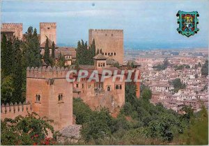 Postcard Modern Granada Alhambra and the City