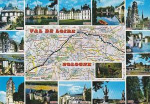 Map of Val De Loire & Bologne France Multi View