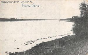 South Eliot Maine Piscataqua River Waterfront Antique Postcard K85178