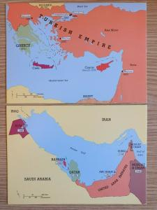 2 Post Office Postcards of Levant 1900 & Persian Gulf 1965 SPECIAL CANCELS 62S