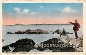 Cape Ann, Mass, USA Postcard Post Card Twin Lights, Fockport
