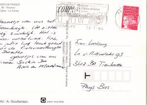 France, Vivonne, 1998 used Postcard